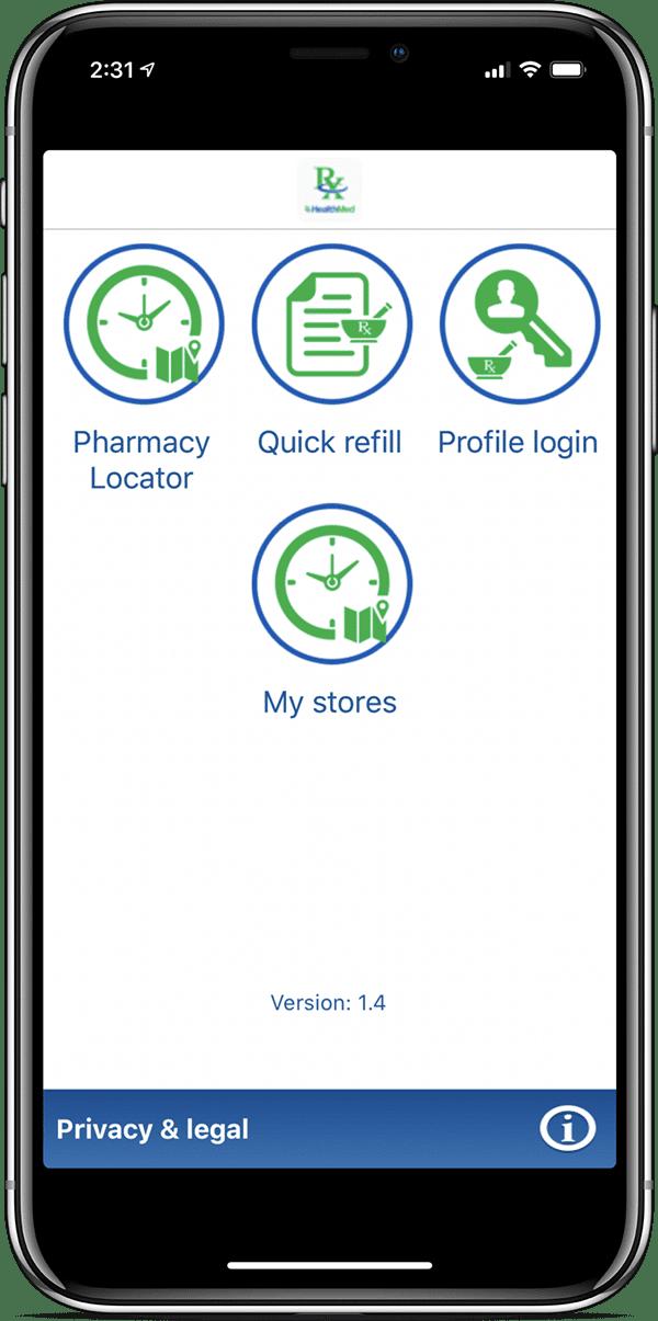 app refill screen